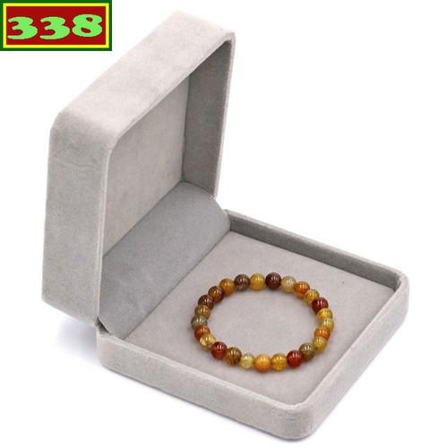 Vòng tay chuỗi hạt đá vân rồng 6 ly 25 hạt kèm hộp nhung - Chuỗi hạt đeo tay đá phong thủy