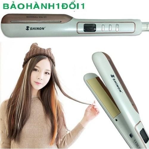 Máy duỗi tóc Shinon chính hãng có LCD chỉnh báo nhiệt độ