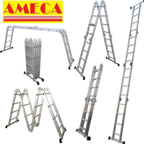 Thang nhôm gấp 4 đoạn AMECA M204 - 4,7m