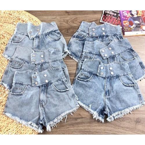 quần short jeans nữ lưng cao - 6908496 , 13636084 , 15_13636084 , 179000 , quan-short-jeans-nu-lung-cao-15_13636084 , sendo.vn , quần short jeans nữ lưng cao