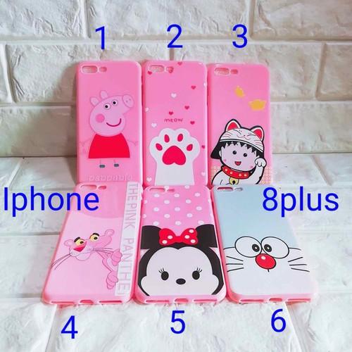 Ốp lưng iPhone 8 plus full màu hồng dẻo