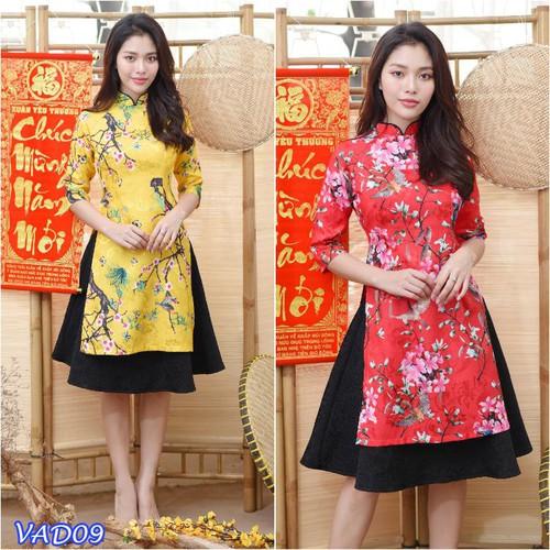 Set áo dài cách tân hoa kèm chân váy gấm - 6929522 , 13660272 , 15_13660272 , 499000 , Set-ao-dai-cach-tan-hoa-kem-chan-vay-gam-15_13660272 , sendo.vn , Set áo dài cách tân hoa kèm chân váy gấm