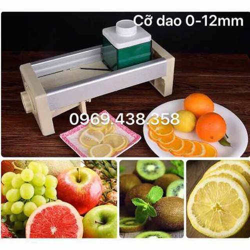 máy thái lát hoa quả cỡ dao từ 0-12 mm