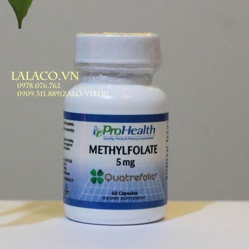 Viên uống bổ não, tăng cường trí nhớ ProHealth Methylfolate with Quatrefolic 5 mg 60 viên Mỹ