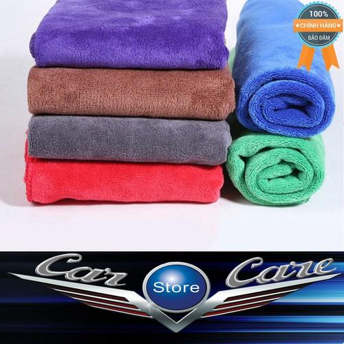 Bộ 2 khăn lau xe hơi cao cấp siêu sạch 30cm x 70cm
