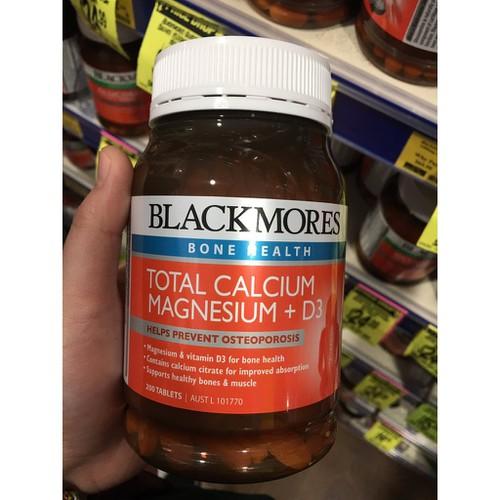 Viên Uống Bổ Sung Canxi Blackmores Total Calcium Magnesium + D3, lọ 200 viên - 4485599 , 13663020 , 15_13663020 , 514000 , Vien-Uong-Bo-Sung-Canxi-Blackmores-Total-Calcium-Magnesium-D3-lo-200-vien-15_13663020 , sendo.vn , Viên Uống Bổ Sung Canxi Blackmores Total Calcium Magnesium + D3, lọ 200 viên