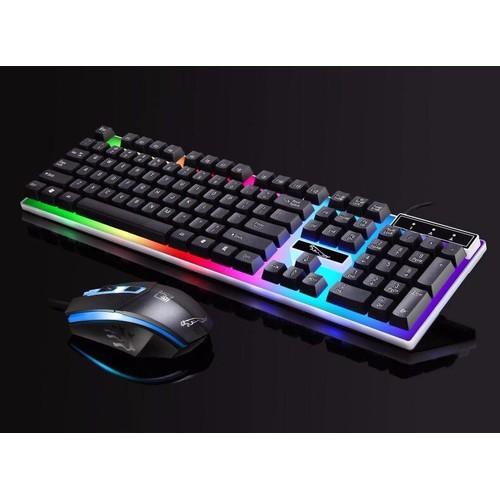 Bộ bàn phím Led 7 màu giả cơ chơi Game + chuột  G21 siêu đẹp