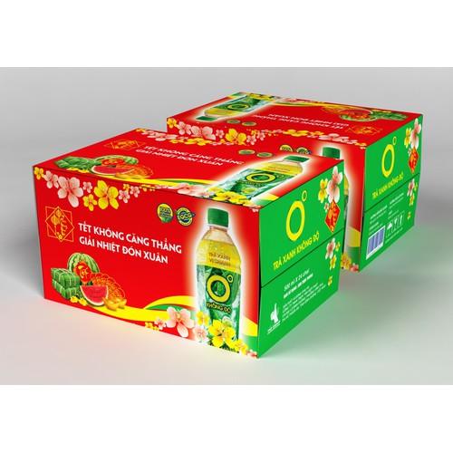 [HCM] Trà Xanh Không Độ 455 ml - Thùng 24 chai