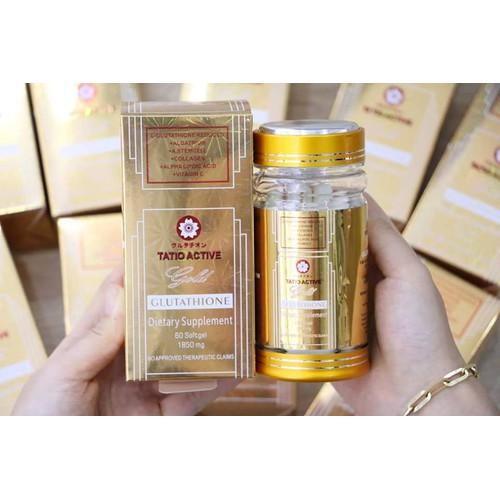 [auth+date mới] Viên trắng da Tatio Active Gold Glutathione 1850mg