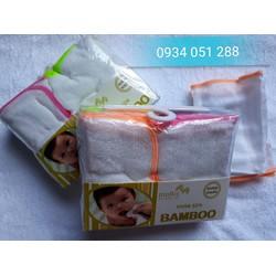 Combo 2 lốc khăn sữa kháng khuẩn mollis bamboo cho bé sơ sinh