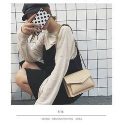 Túi hộp bì thư tag chữ |Túi đeo chéo nữ