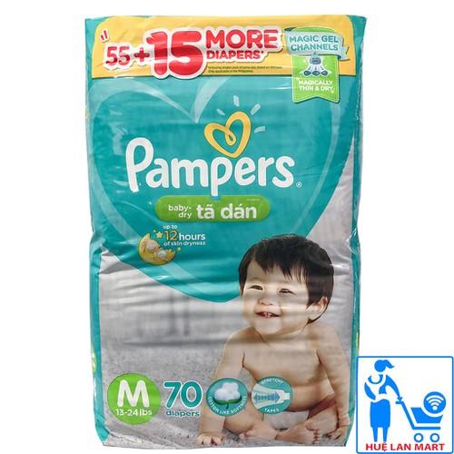 [CHÍNH HÃNG] Tã Dán Pampers Size M70 - Hàng Nhập Khẩu