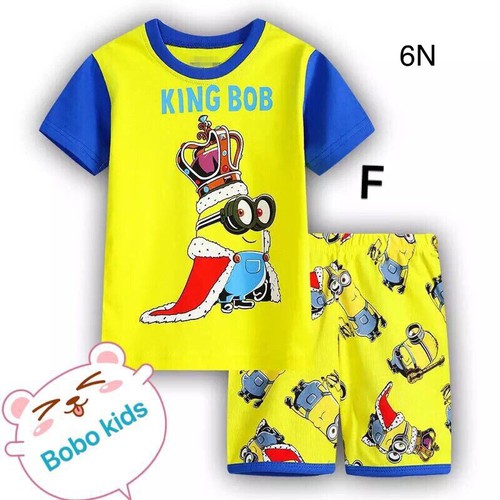 Đồ bộ bé trai hình Minion 10-41kg, thun cotton in 3d sắc nét, quần lưng thun thoải mái cho bé vận động. Giặt không vỡ hình.