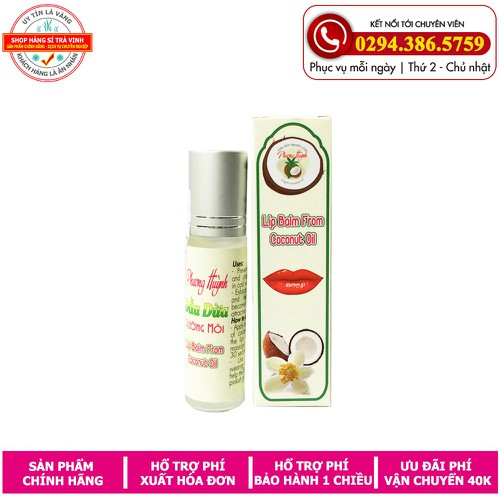 Dầu dừa dưỡng môi Phương Huỳnh loại 10ml|dầu dừa