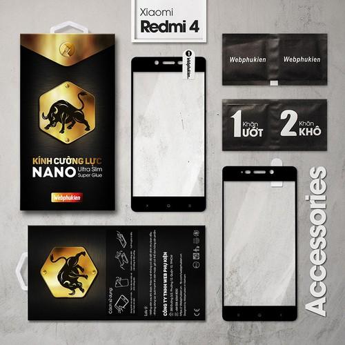 Cường lực Xiaomi Redmi 4 Full Webphukien đen