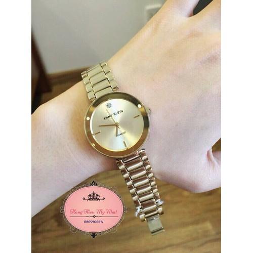 Đồng hồ nữ AK dây kim loại màu vàng 2786CHGB