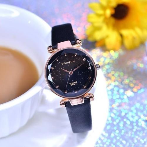 Đồng hồ nữ DouKou 71720 dây da cao cấp màu đen mặt đen - 6941123 , 13679000 , 15_13679000 , 200000 , Dong-ho-nu-DouKou-71720-day-da-cao-cap-mau-den-mat-den-15_13679000 , sendo.vn , Đồng hồ nữ DouKou 71720 dây da cao cấp màu đen mặt đen