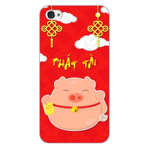 Ốp lưng điện thoại iphone 4 - Pig 2019