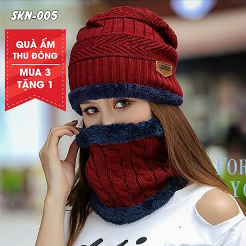 [Mua 3 Thành 4] Combo Mũ Len Kèm Khăn Chui Đầu Hàn Quốc Mua 3 Tặng 1