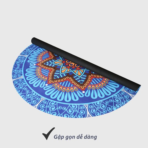 Thảm Tập Yoga cao su Tròn, Hoa Văn Đẹp 1,4m, Bề Mặt Nỉ Thấm Hút Mồ Hôi, Mặt Dưới Bám Tuyệt Đối - 6947270 , 13685522 , 15_13685522 , 1600000 , Tham-Tap-Yoga-cao-su-Tron-Hoa-Van-Dep-14m-Be-Mat-Ni-Tham-Hut-Mo-Hoi-Mat-Duoi-Bam-Tuyet-Doi-15_13685522 , sendo.vn , Thảm Tập Yoga cao su Tròn, Hoa Văn Đẹp 1,4m, Bề Mặt Nỉ Thấm Hút Mồ Hôi, Mặt Dư