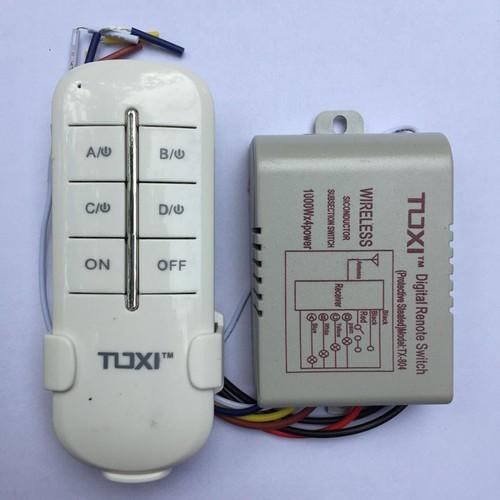 Công tắc điều khiển từ xa RF 4 kênh