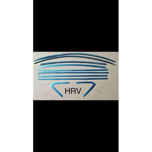 Bộ ốp nẹp viền chân kính + cong kính xe HRV