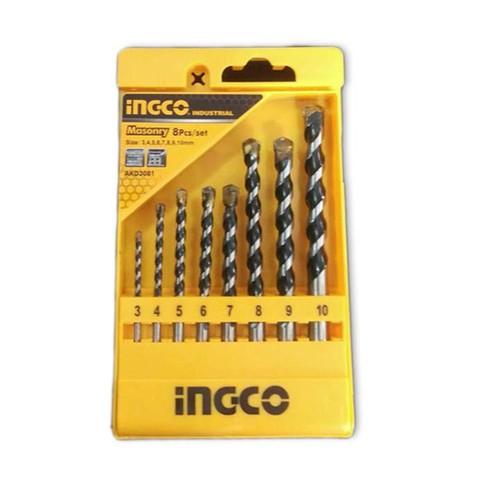 Bộ 8 mũi khoan bê tông đuôi trơn Ingco AKD3081 - 4596945 , 13666598 , 15_13666598 , 136000 , Bo-8-mui-khoan-be-tong-duoi-tron-Ingco-AKD3081-15_13666598 , sendo.vn , Bộ 8 mũi khoan bê tông đuôi trơn Ingco AKD3081