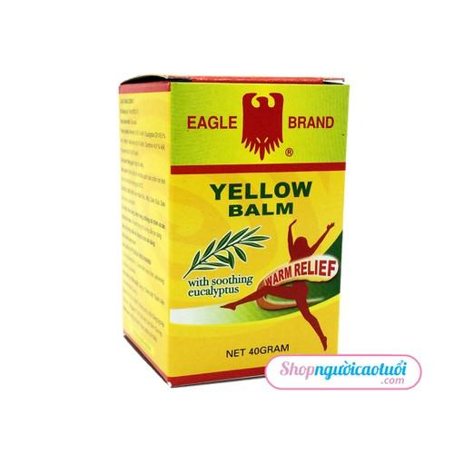 Dầu cù là vàng con ó giảm đau - chống cảm lạnh Eagle Brand yellow Balm