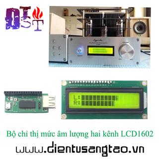 Bộ chỉ thị mức âm lượng hai kênh LCD1602 DIY - Tự hàn - KST-633 thumbnail