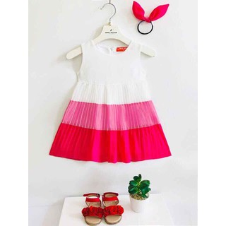 Váy Đầm dự tiệc cho bé gái Đầm Bé Gái đầm tầng cho bé gái tặng kèm cột tóc đầm elsa cho bé gái - Đầm dự tiệc cho bé gái thumbnail