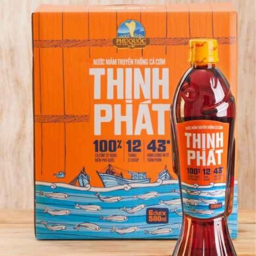 Đặc sản Phú Quốc - Nước mắm Thịnh Phát   chai 500ml 43 độ đạm