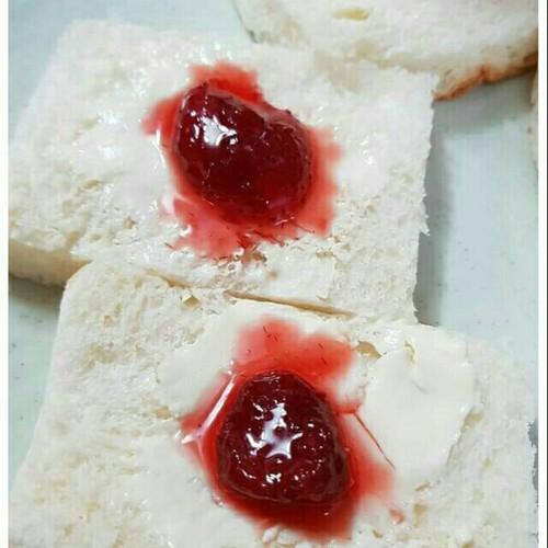 Mứt dâu tây dẻo ăn sáng nhà làm
