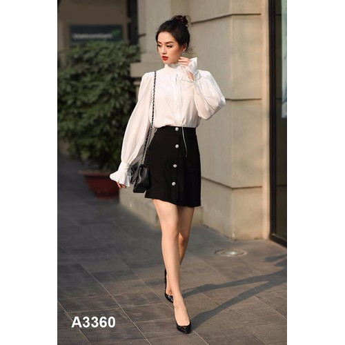 Bộ áo dài tay váy đen