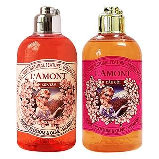 [Combo sữa tắm và Dầu gội LAmont En Provence Hương Hoa Anh Đào cho bé- - DG và ST KID 250ml thumbnail