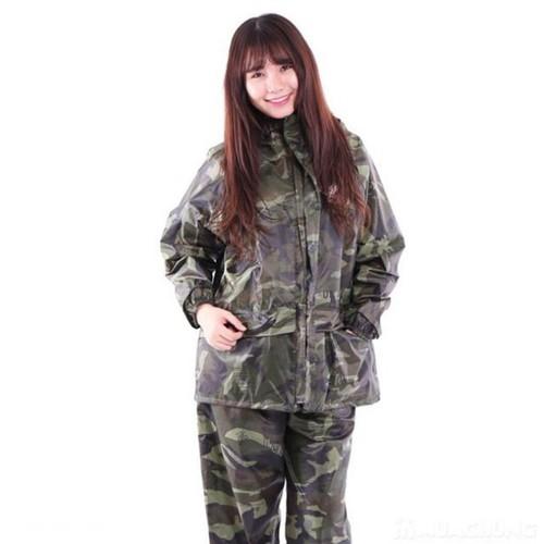 Bộ áo mưa lính vải dù, áo mưa bộ màu rằn ri