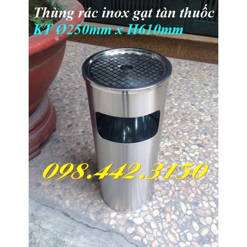 Thùng rác inox gat tàn thuốc - 6968594 , 13709807 , 15_13709807 , 489000 , Thung-rac-inox-gat-tan-thuoc-15_13709807 , sendo.vn , Thùng rác inox gat tàn thuốc