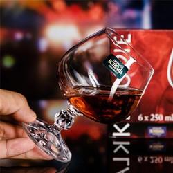 Bộ 6 ly thủy tinh pha lê cường lực uống Brandy , Cognac 250 ml Klaudia Tiệp Khắc