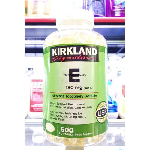 Viên uống bổ sung Vitamin E 180 mg 400 I.U Kirkland Signature 500 softgels