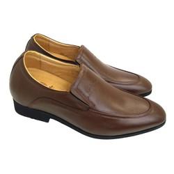Giày tây tăng chiều cao nam da bò thật kiểu dáng Italia mới AD113N