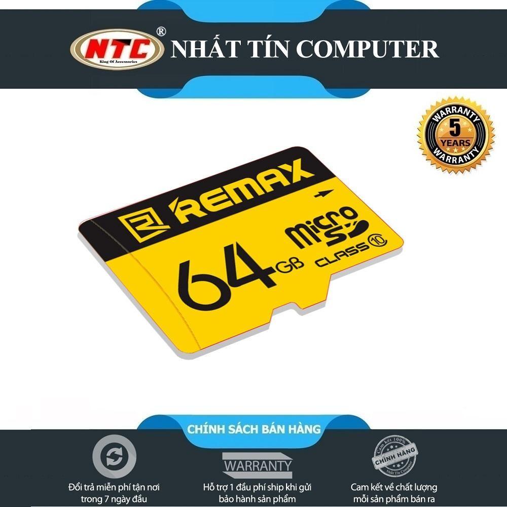 Chỉ 159,000đ - Thẻ nhớ microSDXC Remax 64GB Class 10 80MBs - Bảo hành 5 năm  Vàng