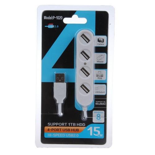 Bộ USB Hub P-1020 Chia 4 cổng tốc độ cao - Hub Usb 4 Ports High Speed