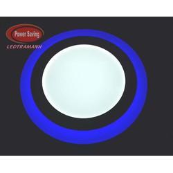Đèn mâm led nồi HG 16W 3 chế độ Tròn xanh dương