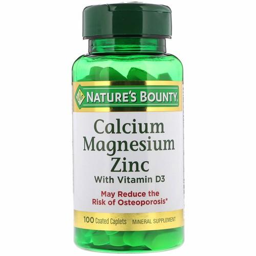 [Hàng Mỹ] Viên uống bổ xương khớp Natures Bounty, Calcium Magnesium Zinc with Vitamin D3 – 100 viên - 10937280 , 13725927 , 15_13725927 , 250000 , Hang-My-Vien-uong-bo-xuong-khop-Natures-Bounty-Calcium-Magnesium-Zinc-with-Vitamin-D3-100-vien-15_13725927 , sendo.vn , [Hàng Mỹ] Viên uống bổ xương khớp Natures Bounty, Calcium Magnesium Zinc with Vitamin