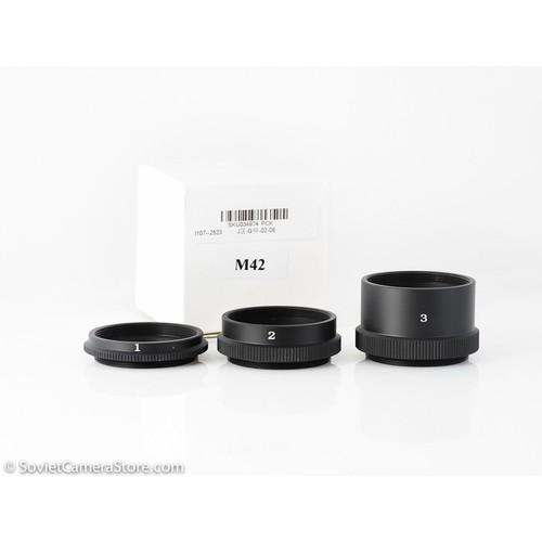 Tube 3 đoạn Chụp Macro Cho máy ngàm M42 - có thể lắp vào các máy Fujifilm Sony và gắn ngàm M42