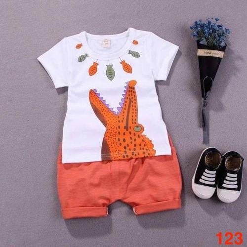 Bộ quần áo chất cotton cho bé từ 5 đến 19kg - Ms 123