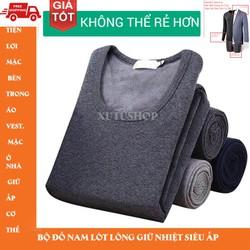 Bộ nam lót nỉ cao cấp mặc bên trong áo Vest giữ ấm cho mùa đông , Pyjama, đồ ngủ nam Nhập loại 1