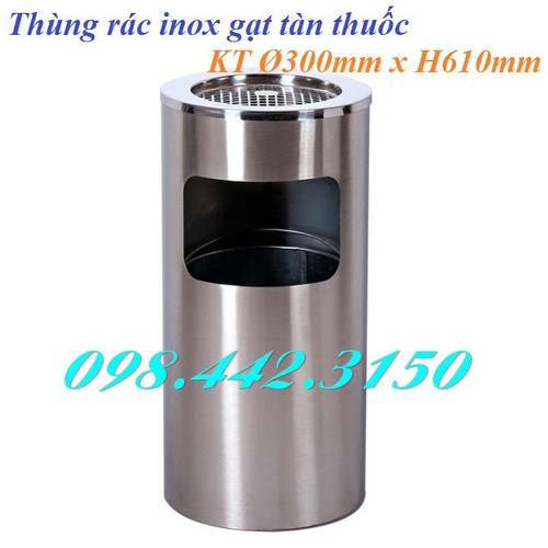 Thùng rác inox tròn gạt tàn thuốc - 6968629 , 13709857 , 15_13709857 , 659000 , Thung-rac-inox-tron-gat-tan-thuoc-15_13709857 , sendo.vn , Thùng rác inox tròn gạt tàn thuốc