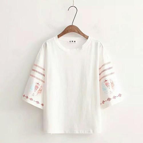 Áo thun cotton dễ thương