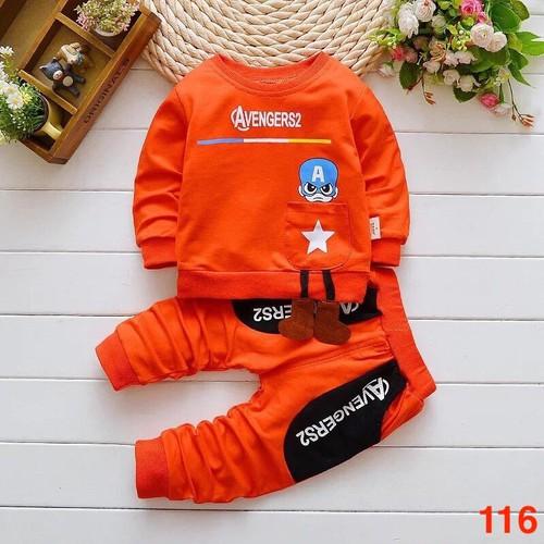 Bộ quần áo chất da cá cho bé từ 6 đến 22kg - Ms 116