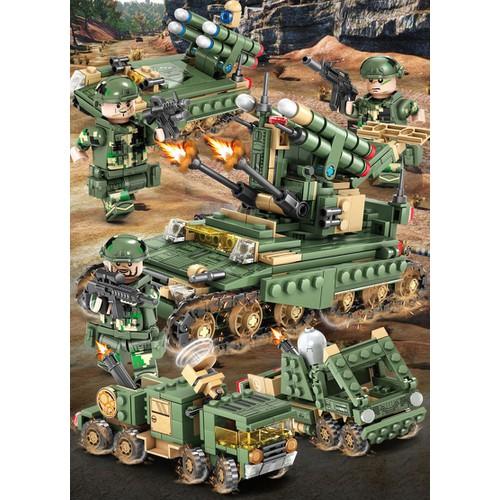 Combo 4 trong 1 xe tăng tên lửa Kazi 84056 đồ chơi lắp ráp - 6967615 , 13708657 , 15_13708657 , 280000 , Combo-4-trong-1-xe-tang-ten-lua-Kazi-84056-do-choi-lap-rap-15_13708657 , sendo.vn , Combo 4 trong 1 xe tăng tên lửa Kazi 84056 đồ chơi lắp ráp